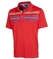 Tommy Hilfiger Mens Nate Lake Chest Stripe Polo Shirt