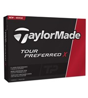 TaylorMade Tour Preferred X Golf Balls - Personalised Buy 3 Get 1 Free  12 Balls