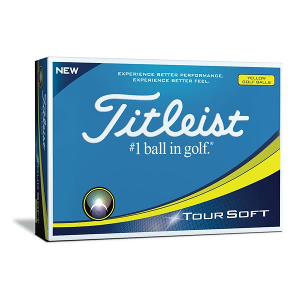 Titleist Tour Soft Yellow Golf Balls (12 Balls)
