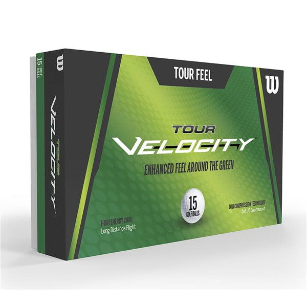 Wilson Tour Velocity Feel Golf Balls (15 Balls) 2019
