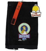 Simpsons Golf Towel & Brush Set