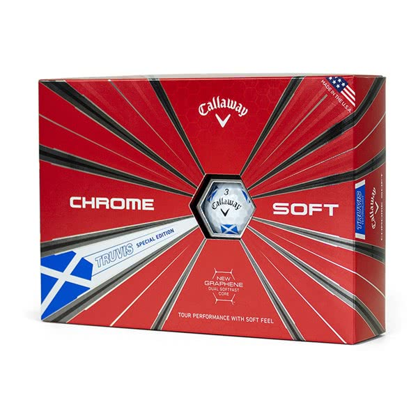 Callaway Chrome Soft Truvis Scotland Golf Balls (12 Balls) 2019 - Limited Edition