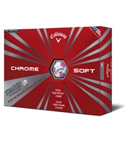 Callaway Ladies Chrome Soft Truvis Pink Golf Balls  12 Balls