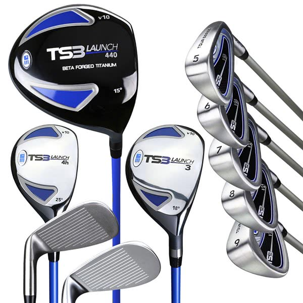 US Kids Tour Series 10-Clubs Golf Combo Set (Graphite Shaft)