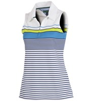 Tommy Hilfiger Ladies Natasha Engineered Stripe Zip Polo