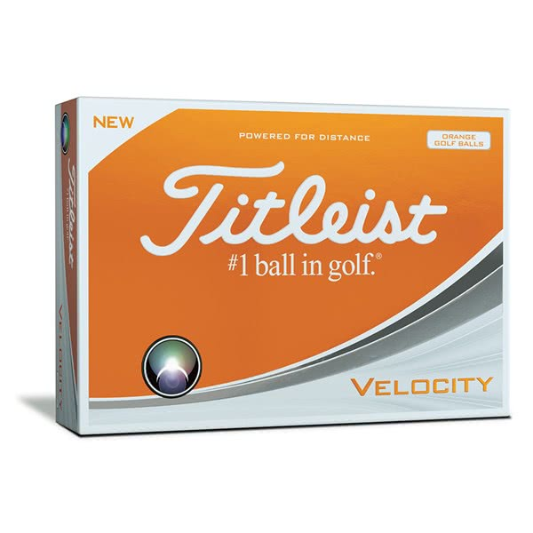 Titleist Velocity Orange Golf Balls (12 Balls) 2018