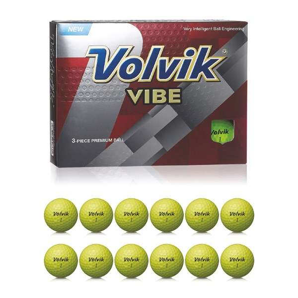 Volvik Vibe Yellow Golf Balls (12 Balls)