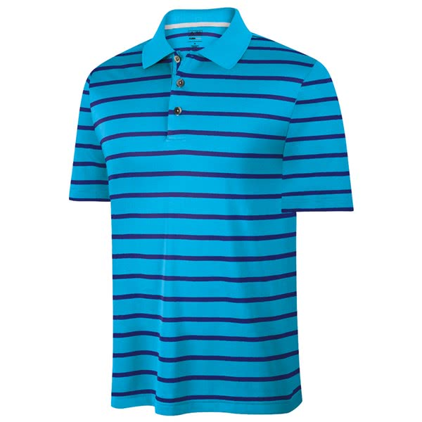 Adidas Mens ClimaCool Textured Stripe Polo Shirt