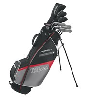 Wilson Mens Prostaff HDX Golf Package Set 1 Inch Longer  Steel/Graphite