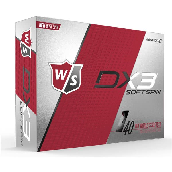 Wilson Staff DX3 Soft Spin Golf Balls (12 Balls)