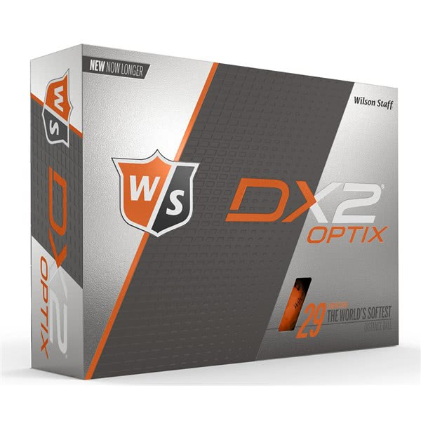 Wilson Staff DX2 Optix Orange Golf Balls (12 Balls) 2018