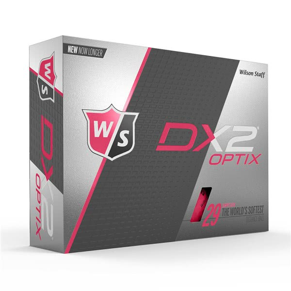 Wilson Staff DX2 Optix Pink Golf Balls (12 Balls)