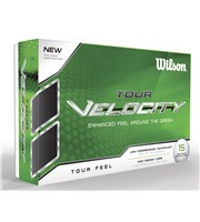 Wilson Staff Tour Velocity Feel Golf Balls  15 Balls