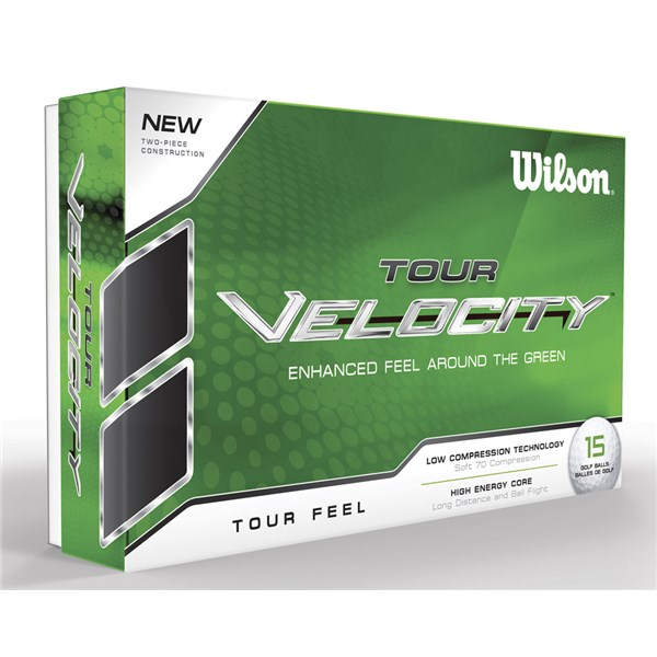 Wilson Tour Velocity Feel Golf Balls (15 Balls)