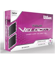 Wilson Staff Ladies Tour Velocity Golf Balls  15 Balls