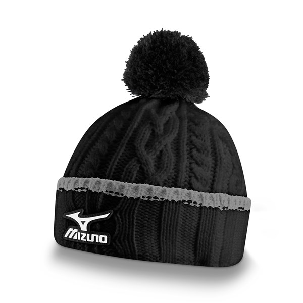 61d4156a Mizuno Cable Knit Bobble Hat | GolfOnline