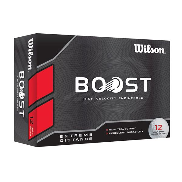 Wilson Boost High Velocity Golf Balls (12 Balls)