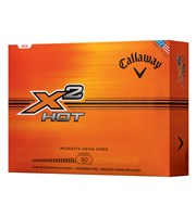 Callaway X2 Hot Golf Balls  12 Balls
