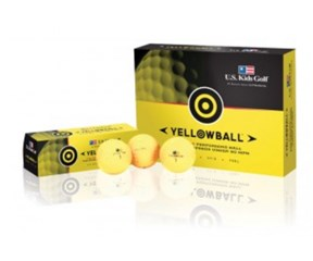 US Kids Yellow Golf Balls  12 Balls
