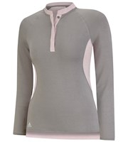 Adidas Ladies Micro Modal Henley Polo Shirt
