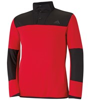 Adidas Mens Climaheat Hybrid Half Zip Shell Top