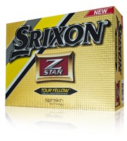 Srixon Z-Star Tour Yellow Golf Balls  12 Balls