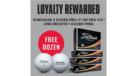 Claim your Free Titleist ProV1 or ProV1X Golf Balls Today