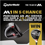 1 in 5 chance to win a matching M1 Fairway Wood