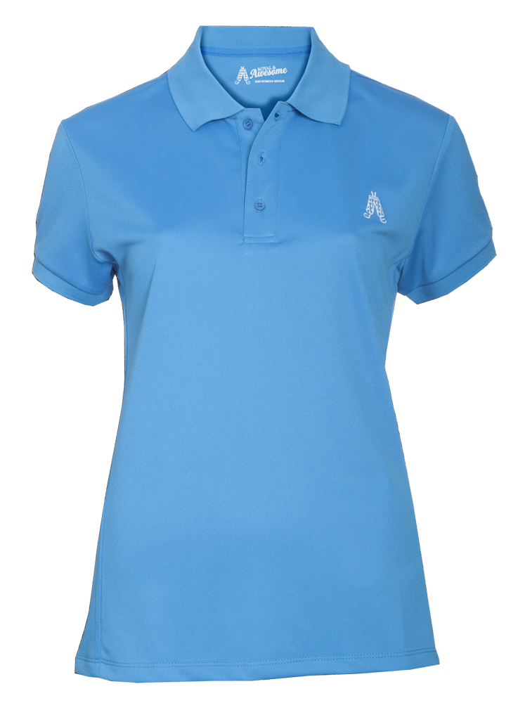 Royal and awesome ladies golf polo shirt golfonline for Golf polo shirts for women