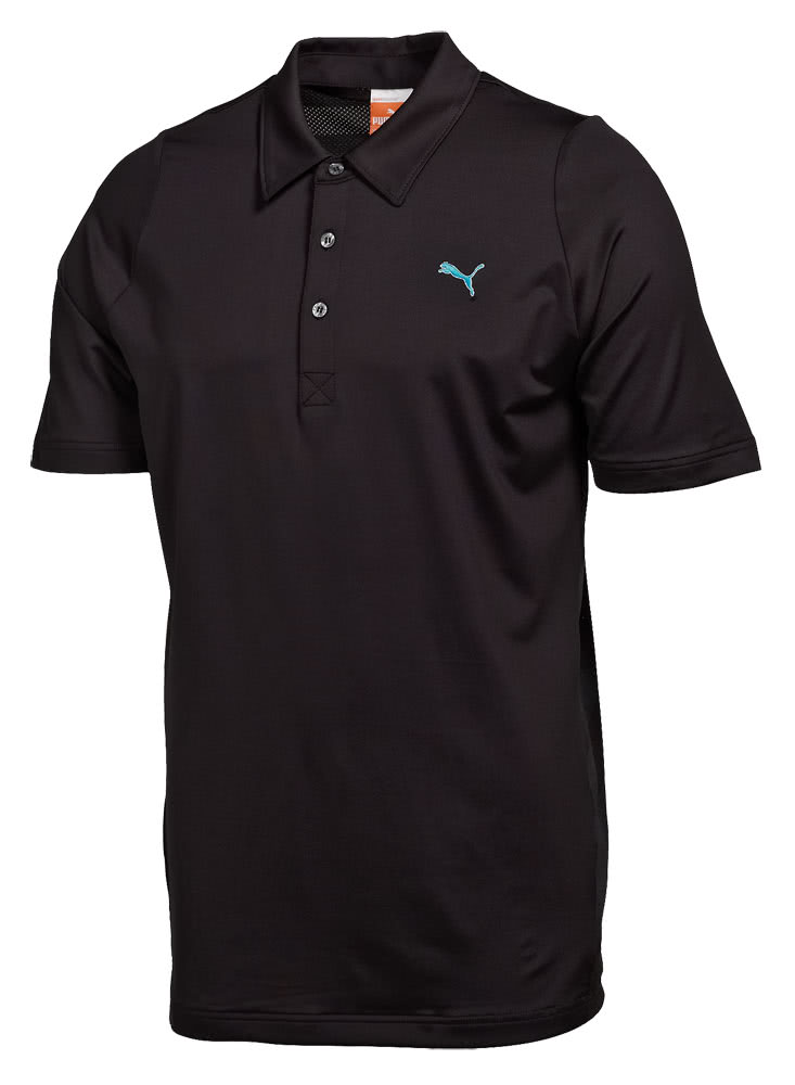 Puma golf mens duo swing mesh polo shirt golfonline for Mens puma golf shirts