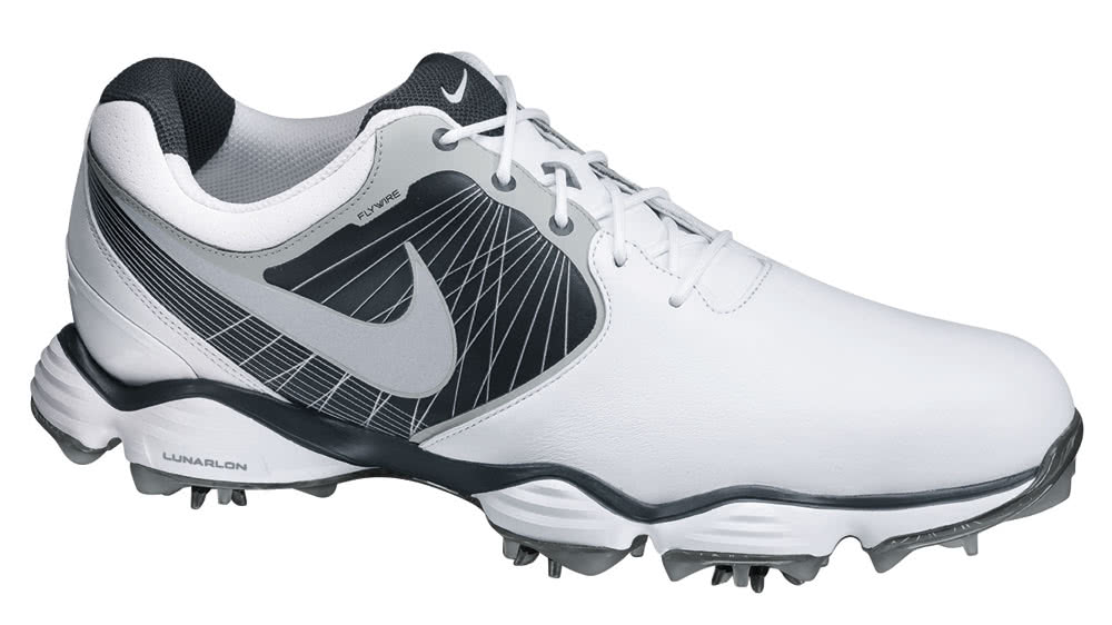 Nike Lunar Control Ii Golf Shoes White Silver