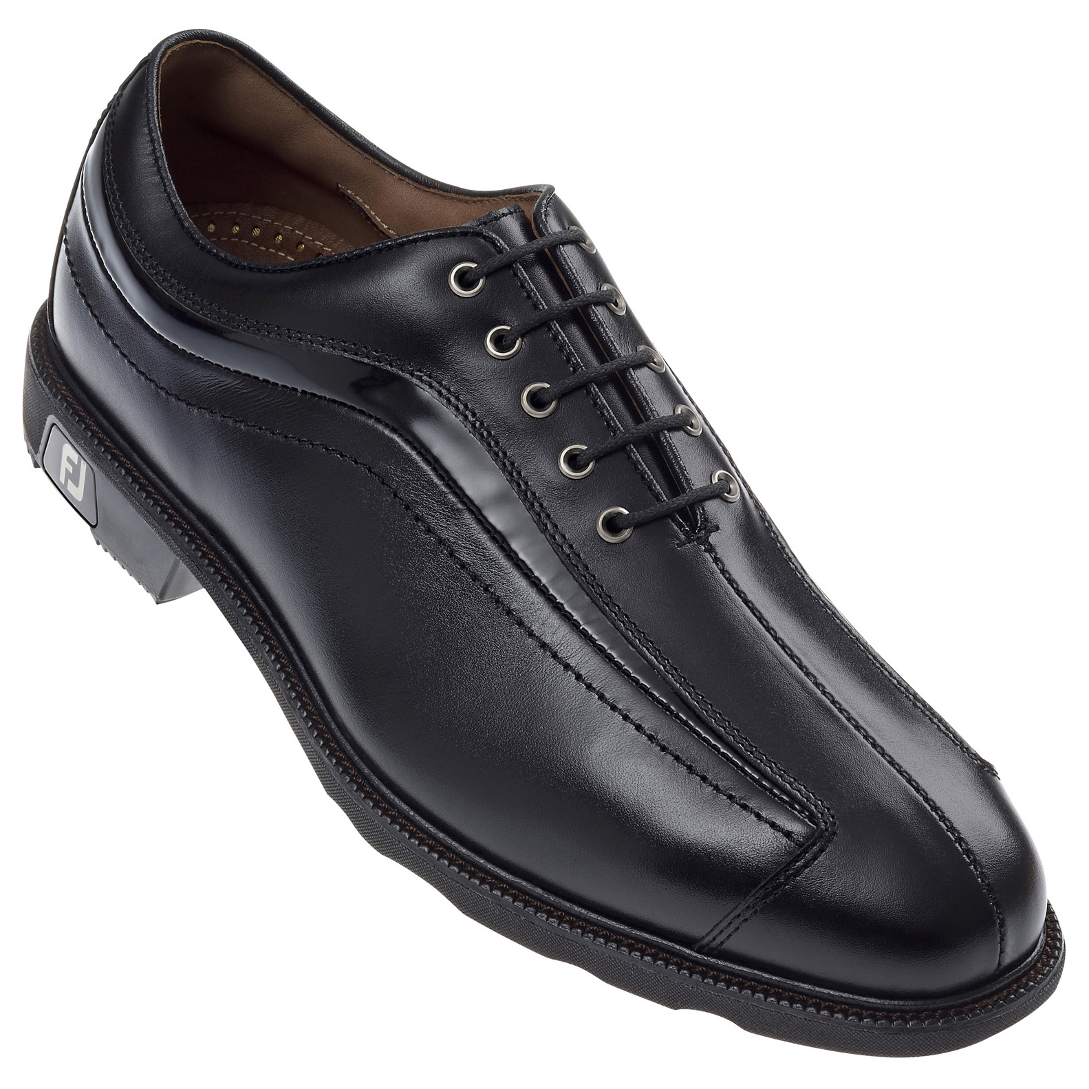 Black Patent Leather Golf Shoes