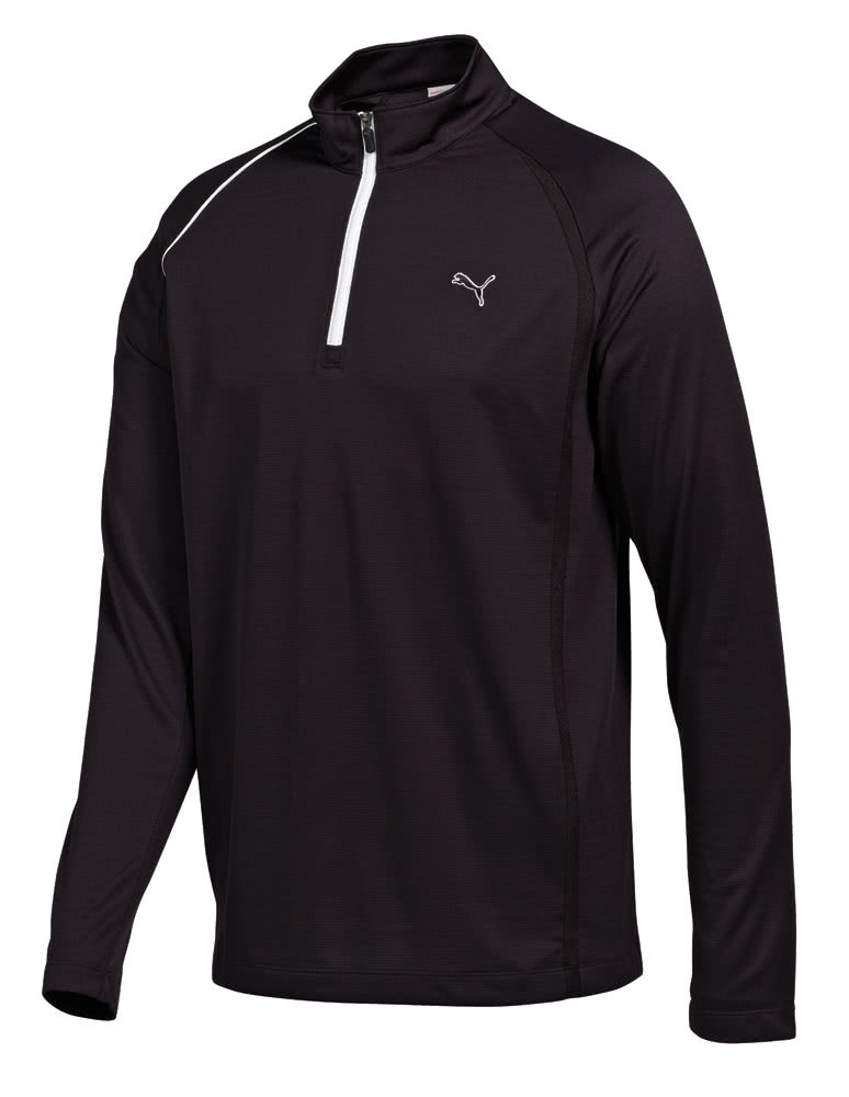 Puma golf mens 1 4 zip long sleeve polo shirt golfonline for Mens puma golf shirts