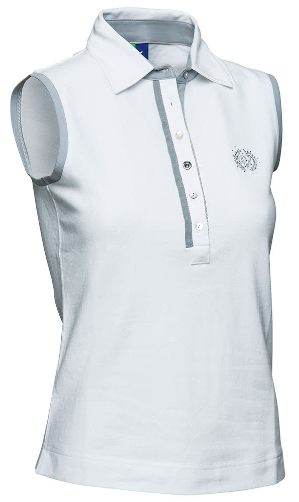 Daily sports ladies shea sleeveless polo with embroidery