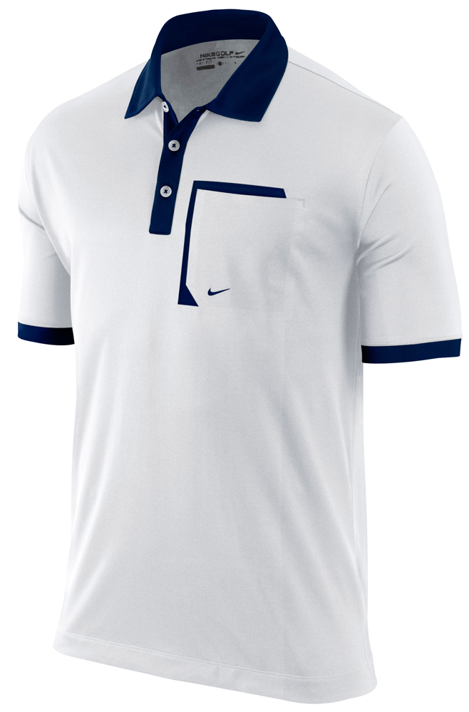 Nike mens performance pocket dri fit polo 2012 golfonline for Mens collared t shirts
