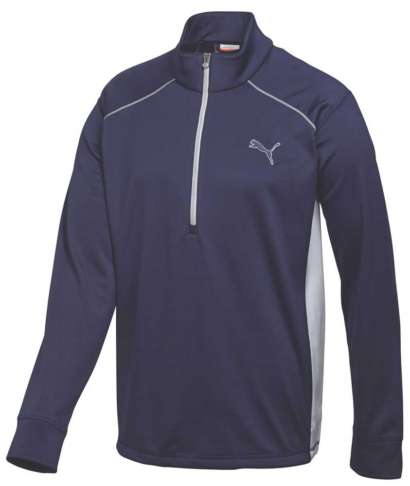 Puma golf mens essential popover golf shirt golfonline for Mens puma golf shirts
