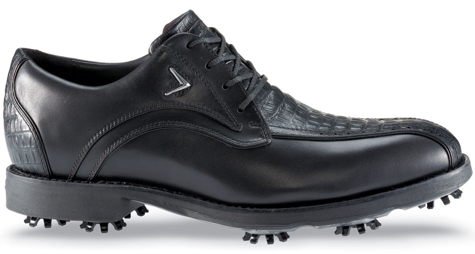 Callaway Mens Chev Blucher Premium Golf Shoes Black Black